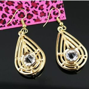 Betsey Johnson  rhinestone earrings NWT